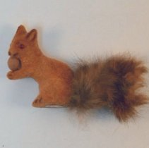 Image of 1995.01 - Flocked Toy Squirrel