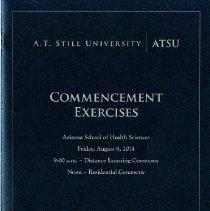 Image of 2014.44 - Arizona School of Health Sciences Commencement Program