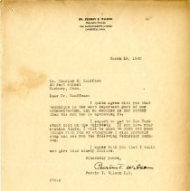 Image of 2009.61 - Letter to Charles Kauffman from Perrin Wilson