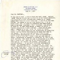 Image of 2009.61 - Letter to Charles Kauffman from Jennie Alice Ryel