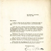 Image of 2009.61 - Letter to Charles Kauffman from Louis Chandler