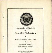 Image of 2009.61 - International Society of Sacro-Iliac Technicians Bulletin Number 32