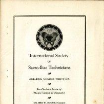 Image of 2009.61 - International Society of Sacro-Iliac Technicians Bulletin Number 36