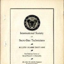 Image of 2009.61 - International Society of Sacro-Iliac Technicians Bulletin Number 39