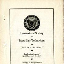 Image of 2009.61 - International Society of Sacro-Iliac Technicians Bulletin Number 40