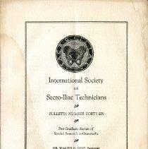 Image of 2009.61 - International Society of Sacro-Iliac Technicians Bulletin Number 46
