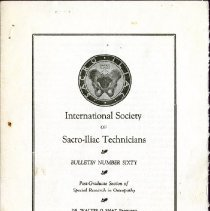 Image of 2009.61 - International Society of Sacro-Iliac Technicians Bulletin Number 60