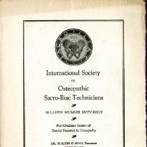 Image of 2009.61 - International Society of Sacro-Iliac Technicians Bulletin Number 64