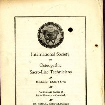 Image of 2009.61 - International Society of Sacro-Iliac Technicians Bulletin Number 85