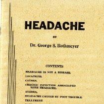 Image of 2014.42 - Headache