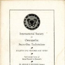 Image of 2009.61 - International Society of Sacro-Iliac Technicians Bulletin Number 107