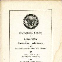 Image of 2009.61 - International Society of Sacro-Iliac Technicians Bulletin Number 116