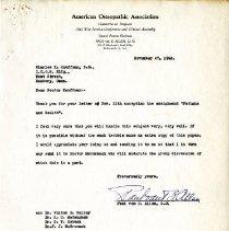 Image of 2009.61 - Correspondence between Charles Kauffman and Paul van B. Allen