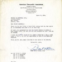 Image of 2009.61 - Letter to Charles Kauffman from Paul Van B. Allen