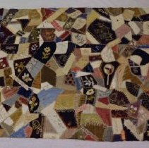 Image of 2014.53 - Crazy Quilt Made by Sarah Ann Smith for Marian Lee Patterson Smith