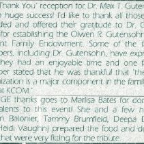 Image of 2011.98 - Thank You Reception for Dr. Max Gutensohn