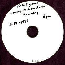 Image of 2014.46 - Viola Frymann Learning Problem Audio Recording