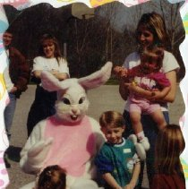 Image of 2011.98 - Bass Family with the Easter Bunny at the Easter Egg Hunt