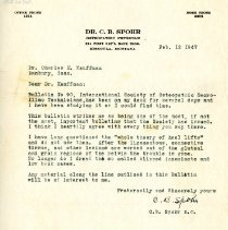 Image of 2009.61 - Letter to Charles Kauffman from C. B. Spohr