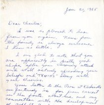 Image of 2009.61 - Letter to Charles Kauffman from Roy