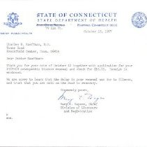 Image of 2009.61 - Letter to Charles Kauffman from Mary Bayers