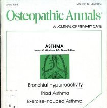 Image of 2014.64 - Osteopathic Annals, Vol, 12, No. 4