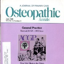 Image of Osteopathic Annals, Vol, 13, No. 6