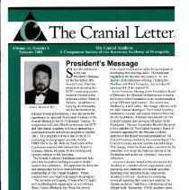 Image of 2014.64 - The Cranial Letter, Vol, 55, No. 1