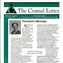 Image of 2014.64 - The Cranial Letter, Vol, 57, No. 3
