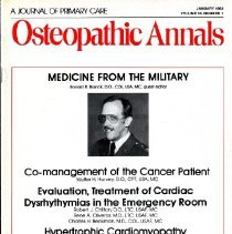 Image of 2014.64 - Osteopathic Annals, Vol, 10, No. 1