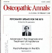 Image of Osteopathic Annals, Vol, 11, No. 1