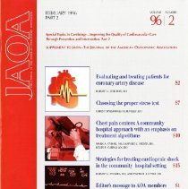 Image of 2014.64 - Supplement to The Journal of the American Osteopathic Association, Vol, 96