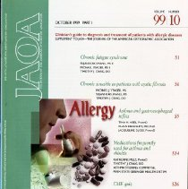 Image of 2014.64 - Supplement to The Journal of the American Osteopathic Association, Vol, 99, No. 10