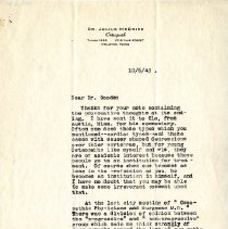 Image of 2009.61 - Letter to George Goode from Julius McBride