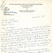 Image of 2009.61 - Letter to George Goode from Ruth Kauffman