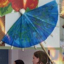 Image of 2011.98 - Blue Umbrella Cocktail Stirrer