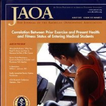 Image of 2014.64 - The Journal of the American Osteopathic Association, Vol, 103, No. 8