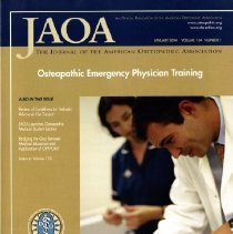 Image of 2014.64 - The Journal of the American Osteopathic Association, Vol, 104, No. 1