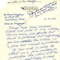 Image of 2009.61 - Letter to Charles Kauffman from William Ellis