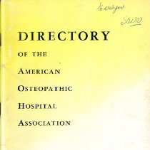 Image of 2015.09 - American Osteopathic Hospital Association Directory