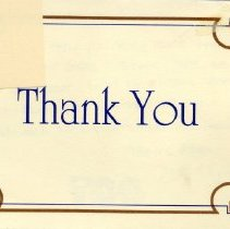 Image of 2011.98 - Thank You Card