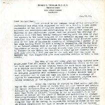 Image of 2009.61 - Letter to Charles Kauffman from Robert Truhlar