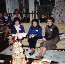 Image of 2011.98 - Three SAA Members at Christmas Gift Exchange
