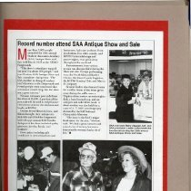 Image of 2011.98 - Page 11 of the Student Associates Auxiliary 1991 Scrapbook