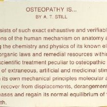 Image of 2011.98 - Osteopathy Is