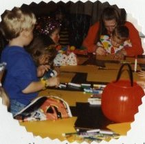 Image of 2011.98 - Naomi Rampton and Children at Halloween Party