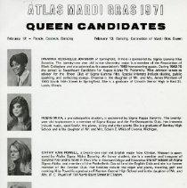 Image of 2014.56 - Atlas Mardi Gras 1971 Queen Candidates