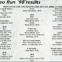 Image of 2011.98 - Osteopathic Run Results