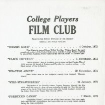 Image of 2014.56 - College Players Film Club