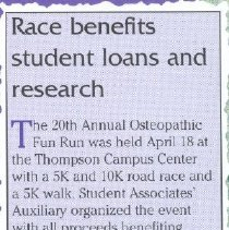 Image of 2011.98 - Osteopathic Run